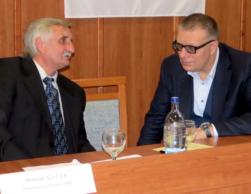 Miroslav Guček s predsedom SFZ Jánom Kováčikom