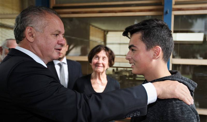 Marek Mach na stretnutí s prezidentom Andrejom Kiskom, zdroj foto: Facebook Marej Mach