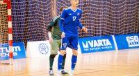 Daniel Čeřovský vzápase proti Rusku na Slovak Futsal Week 2018 vTrnave.