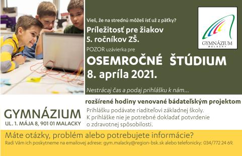 Gymnazium 2021 8.rocne