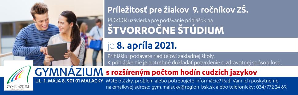 Gymnazium Malacky 2021